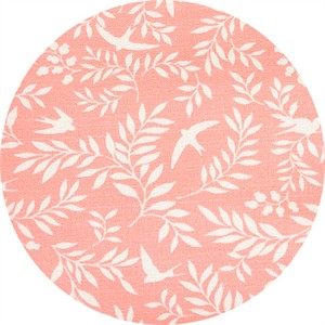 Japanese Import, LIGHTWEIGHT BARKCLOTH, Swallow Breeze Peach