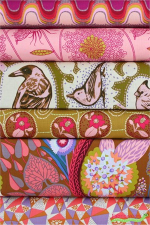 Anna Maria Horner for Free Spirit, Sweet Dreams, Flora in FAT QUARTERS 6 Total