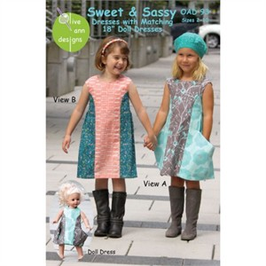 Olive Ann Designs, Sewing Pattern, Sweet & Sassy Dresses