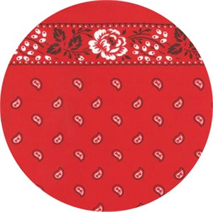 "Moda, 16"" Toweling, Bandana Red"