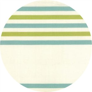 "Moda, 16"" Toweling, Fiesta Border Stripe Avocado"