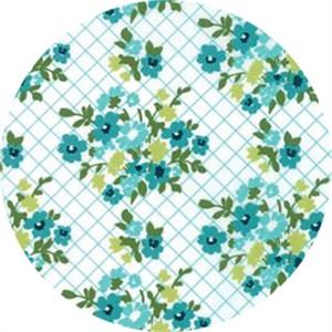 April Rosenthal for Moda, Mama's Cottage, Tablecloth Blue Raspberry
