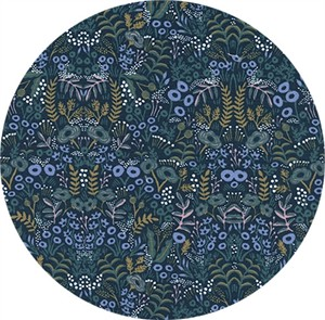 Rifle Paper Co. for Cotton and Steel, Menagerie, Tapestry Navy