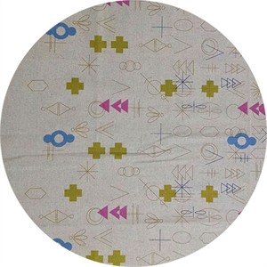 Alison Glass, Adorn TAILORED CLOTH, Symbolic Cool Border Print