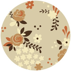 Teagan White for Birch Organic Fabrics, Fort Firefly, Rose Garden Taupe