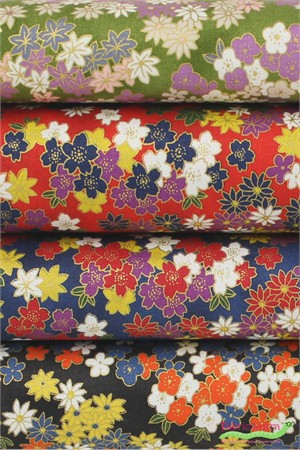 Japanese Import, Tea Garden Blooms in FAT QUARTERS 3 Total