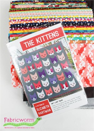 Sewing Pattern, Elizabeth Hartman, The Kittens Quilt Kit