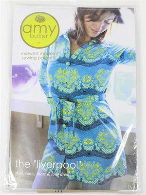 Amy Butler, Sewing Pattern, The Liverpool Shirt/Tunic/Short & Long Dress