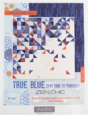 Sewing Pattern, Brigitte Heitland, True Blue Throwing Quilt Kit