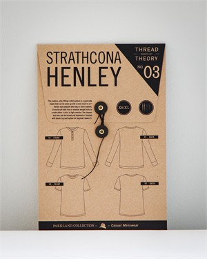 Thread Theory Menswear, Sewing Pattern, Strathcona Henley