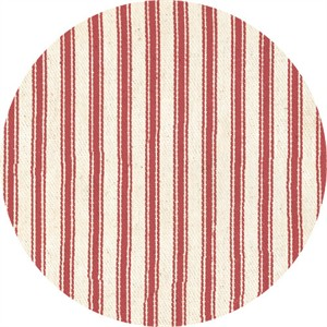 James Thompson & Company, Yarn Dyed Ticking, Red