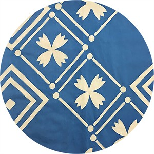 Alison Glass for Andover, Handcrafted Patchwork, Tile Cornflower