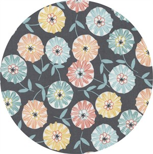 Timeless Treasures, Imogen, Tossed Flowers Grey