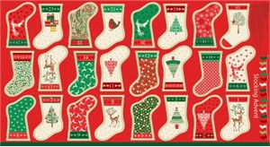 "Makower UK, Traditional Christmas, Traditional Bunting Flags (23"" Panel)"