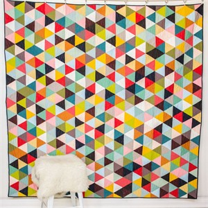 Tri Love Quilt Kit featuring Birch Organic Solids