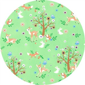 Timeless Treasures, Deer and Trees Mint