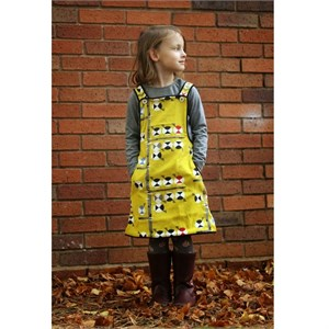 Sewing Tutorial | Chickadee Pinafore by The Crafty Kitty