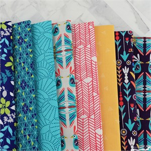 Fabricworm Custom Bundle, Typically Tropical in FAT QUARTERS 8 Total