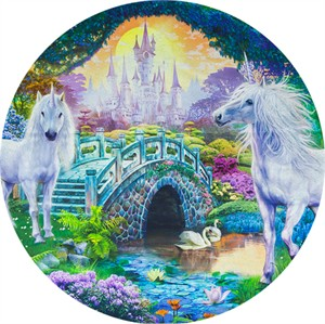 "Robert Kaufman, Picture This, Unicorns Sweet (36"" Panel)"