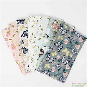 Teresa Chan for Camelot Fabrics, Up, Up and Away in FAT QUARTERS 7 Total (PRECUT)