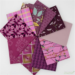 Art Gallery Fabrics, PRE-CUT Color Master, Vibrant Violet in FAT QUARTERS 10 Total
