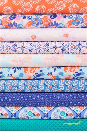 Kate Spain for Moda, Voyage in FAT QUARTERS 10 Total