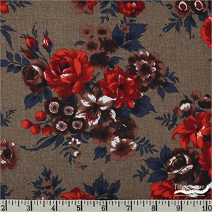 Gertrude Made for Ella Blue Fabrics, Outback Wife,  MERINO WOOL, Alys Red