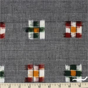 Imported Woven Yarn-Dyes, Dakota, Checker Board Grey