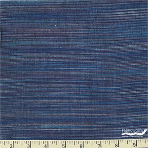 Imported Woven Yarn-Dyes, Winding Ridge, Horizontal Stripe Midnight