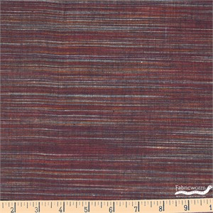 Imported Woven Yarn-Dyes, Winding Ridge, Horizontal Stripe Rust Neutral