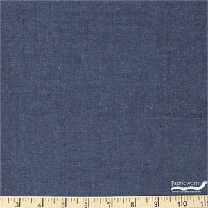Imported Woven Yarn-Dyes, Indigo Range Plain, Denim Blue
