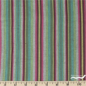 Imported Woven Yarn-Dyes, Santa Fe, Narrow Stripe Green
