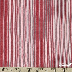 Imported Woven Yarn-Dyes, Seersucker, Stripe Red