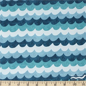 Rifle Paper Co. for Cotton and Steel, Amalfi, Waves Turquoise