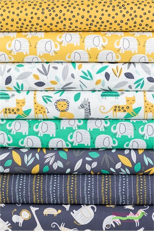 Windham Fabrics, Wild About You, Safari in FAT QUARTERS 8 Total