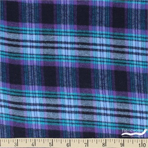Imported Woven Yarn-Dyes, Windstar Double Brushed FLANNEL, Plaid Navy Purple