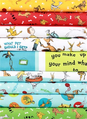 Robert Kaufman, Dr. Seuss What Pet Should I Get? in FAT QUARTERS 9 Total