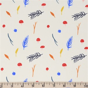 AVAILABLE FOR PREORDER, Jenny Ronen for Birch Organic Fabrics, Whistle, Mushrooms