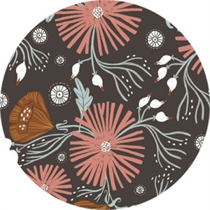 Rae Ritchie for Dear Stella, Folkwood, Wild Folk Floral Chocolate