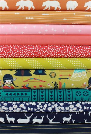 Fabricworm Custom Bundle, Wilderness in FAT QUARTERS 11 Total