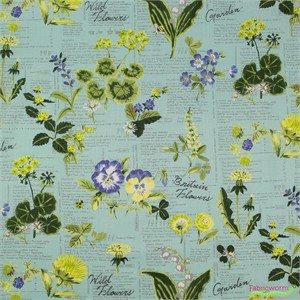 Japanese Import, Wild Flowers Aqua