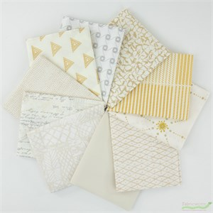 Art Gallery Fabrics, PRE-CUT Color Master, Winter Wheat in FAT QUARTERS 10 Total