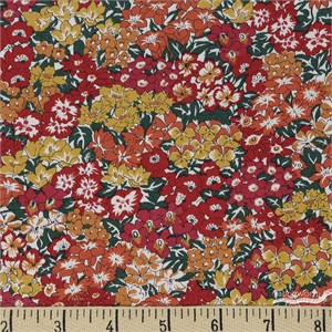 Liberty London Fabrics, The Orchard Garden, Wisely Grove Orange