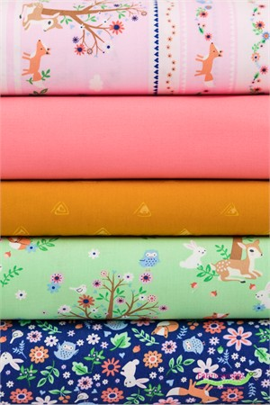 Fabricworm Custom Bundle, Woodland Frolic in FAT QUARTERS 5 Total