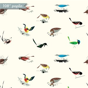 COMING SOON, Charley Harper for Birch Organic Fabrics, Best Of, WIDE WIDTH, Large Western Birds