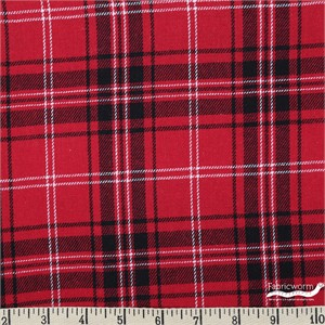 Imported Woven Yarn-Dyes, BRUSHED COTTON, Tartan Red