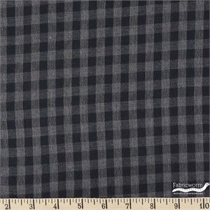 Imported Woven Yarn-Dyes, Lightweight TWILL, Buffalo Check Smokey Grey