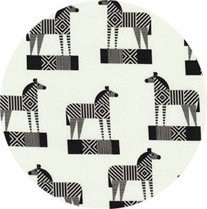 Greg Mably for Robert Kaufman, Geo Zoo, Zebra Retro
