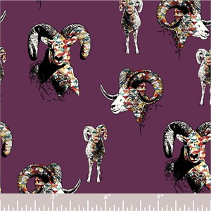 COMING SOON, Jay-Cyn Designs for Birch Organic Fabrics, Zuni Pueblo, Zuni Ram Plum
