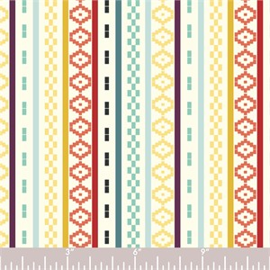 COMING SOON, Jay-Cyn Designs for Birch Organic Fabrics,  Del Pasado, Pasado Stripe Multi